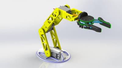 Multipurpose Robotic Arm with 4 DOF