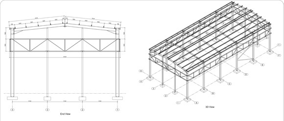 2D Drawing of Structural Building